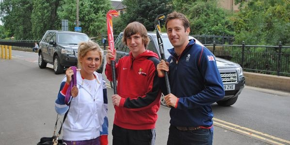My fav pic of MattOTB with Team GB Olympians Georgie Twigg & Iain Lewers
