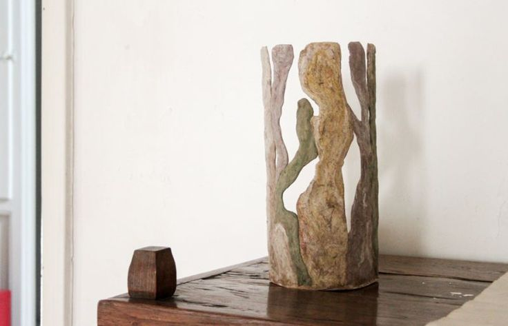 Maisa. Table lamp, made entirely by hand in Malta di Geris (Mortar of Geris).