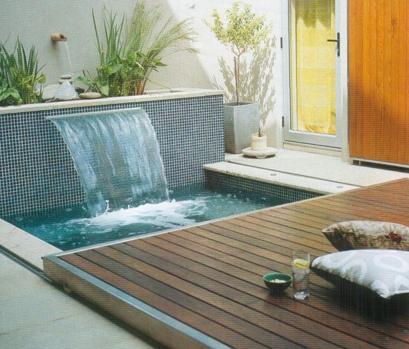 Water Feature And Hot Tub Plunge Pool Ideas For The