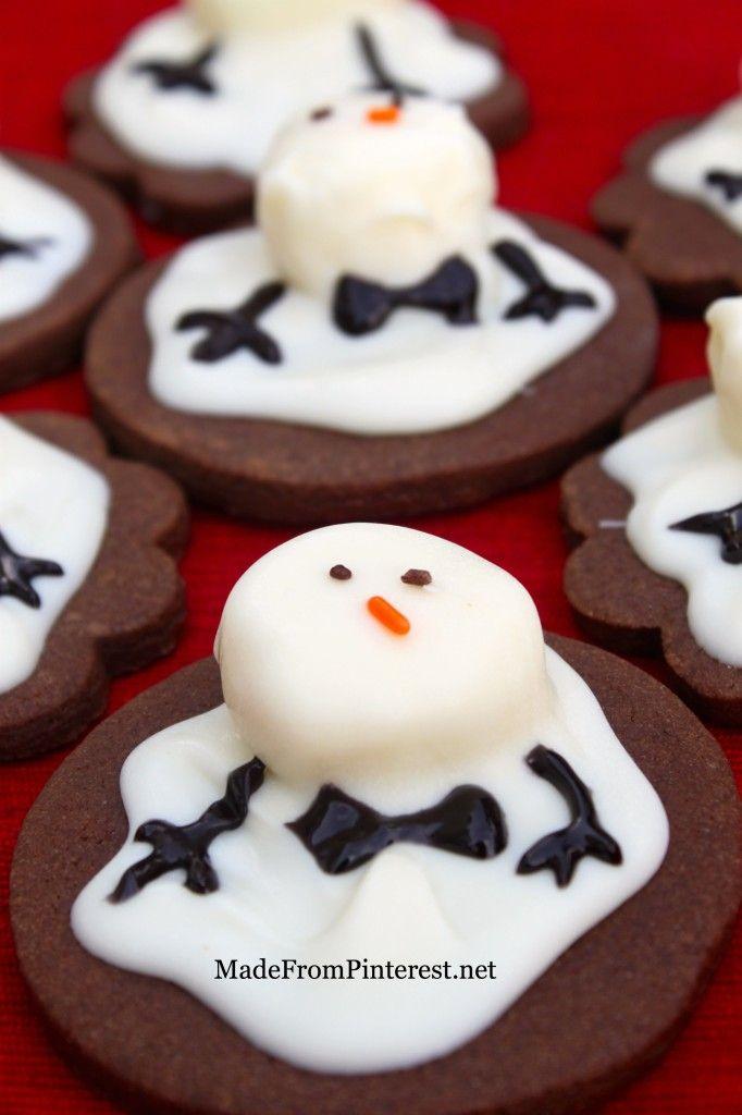 Melting Snowman Cookies - #cookies #christmascookies #foodporn #Dan330 http://livedan330.com/2014/12/09/melting-snowman-cookies-2/