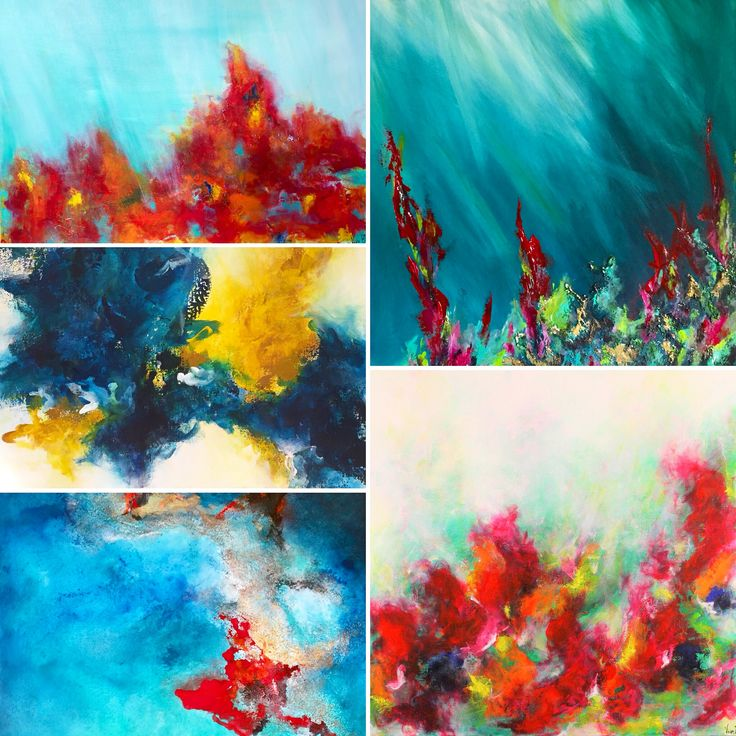 Abstract artwork by Viviane Bergevin. Ottawa artist, Canadian artist. Santinigallery.com