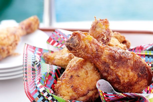 The buttermilk seems to tenderise the chicken and accent its own flavour. This recipe features a spiced up coating but you can simplify it for kids if you like.