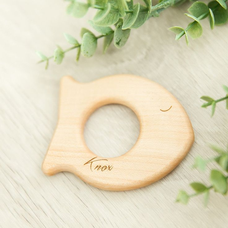 Personalised Teething Fish | noc noc wooden toys