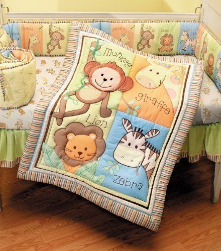 Summer Infant 4 Piece Monkey Jungle Collection Crib Set, Neutral by Summer Infant, Inc., http://www.amazon.com/dp/B004GJXM4C/ref=cm_sw_r_pi_dp_4yRqqb0AEF264