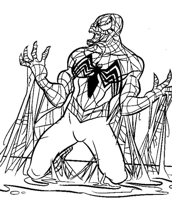 spiderman 3 venom coloring pages - photo#35