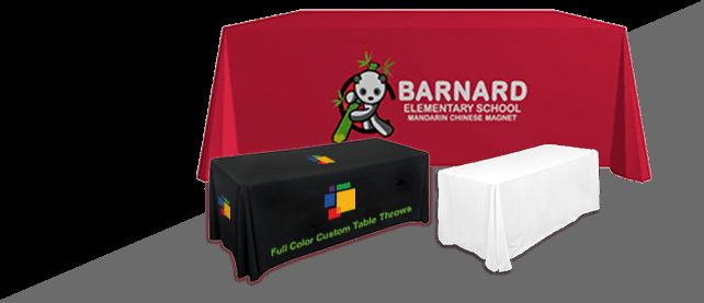 Custom Table Covers / Table Throw Offer an Easy Way to Communicate with your Target Audience
