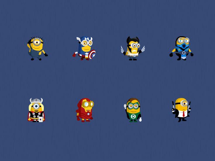 @2x Minion super heroes by Stafie Anatolie