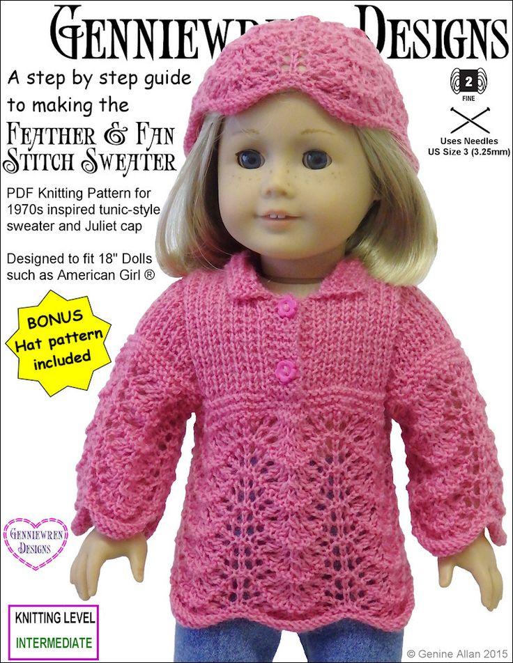 Mejores 71 imágenes de American Girl Knitting Patterns en Pinterest ...