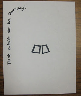 Like this idea.  Give the kids a simple start to a drawing and see what they come up with.