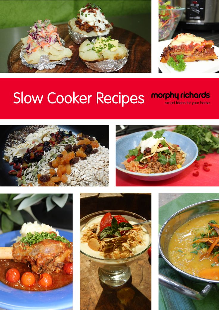 Download the free Morphy Richards Slow Cooker Recipe e-book from our website!