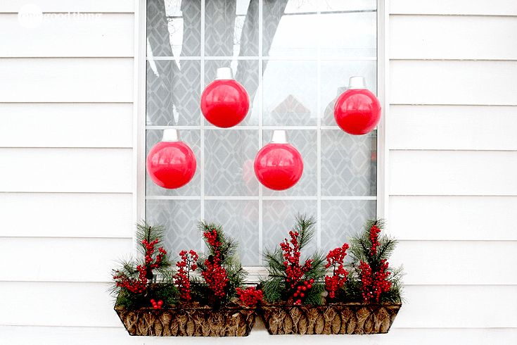 How To Make Simple And Festive Oversized Ornaments - One Good Thing by Jillee