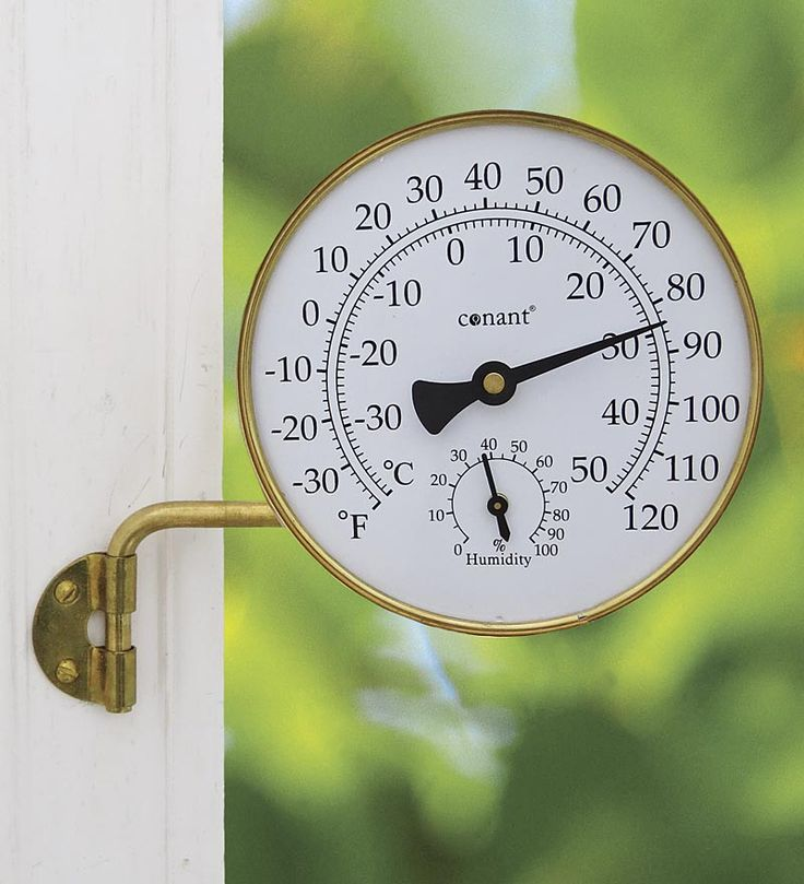 Vermont Brass Weather Station Thermometer | Wind