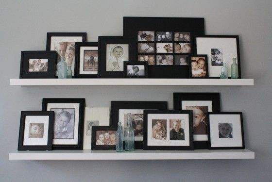 8 best images about room organizing on pinterest for Picture frames organized on walls