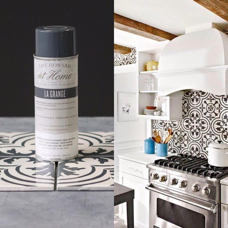 We're loving the patterned tiles trend, whether it's on backsplashes, walls or floors! You can DIY this look with Amy Howard at Home product. Our High Performance Lacquer in La Grange is perfect for adding a pattern with a stencil to any tiles on walls, and One Step Paint plus a Matte Sealer is what you need for floors!