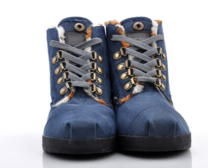 Womens Blue Toms Highlands Fleec Botas : Men's And Women's Toms Shoes, Discount Online Sale, Toms Outlet Offer the 2013 Latest and Classic Toms Shoes, Toms Boots and Toms Stripe for Men and Women. 100% Top Quality Guarantee, Free Shipping! $17