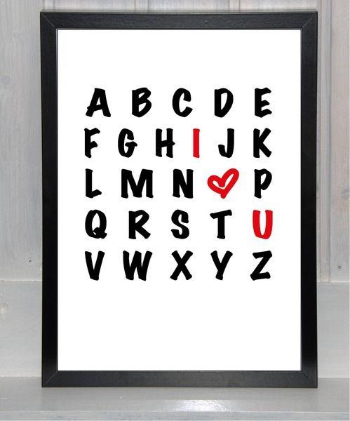 Liebes-ABC , I ? U ,  Ich liebe Dich von bei.werk ? things made by hand and shaped by age auf DaWanda.com (Diy Geschenke Liebe)