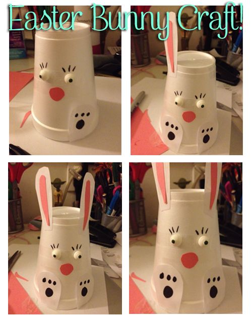 Easter Bunny Craft ~  step by step