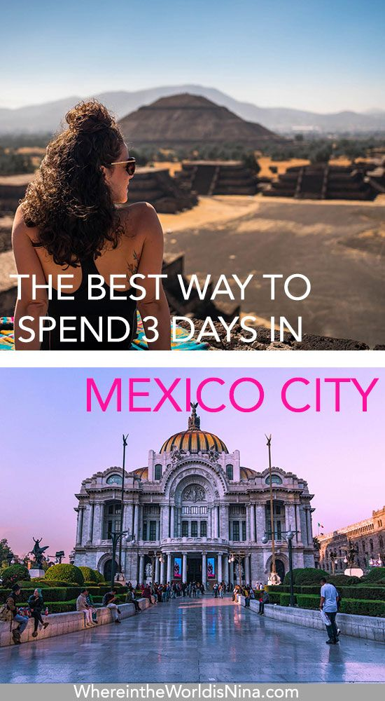 Here's the perfect way to spend 3 days in Mexico City. This Mexico City itinerary includes what to do in Mexico City, what to see in Mexico City, and the best day trip from Mexico City. With only 3 days in Mexico City, you don't want to waste any of it. Everything you need to know about Mexico City travel and even where to photograph Mexico City. Check out this 3-day Mexico City itinerary. Don't lose this pin, save it for later! #Mexico #TravelMexicoCity #MexicoItinerary