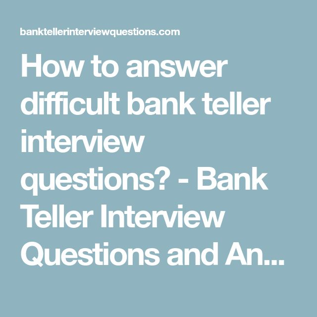 15 best bank po interview questions images on Pinterest Bank