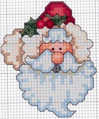 Santa.  This is a cross-stitching pattern, but I bet I can make a coordinate graphing picture of it.