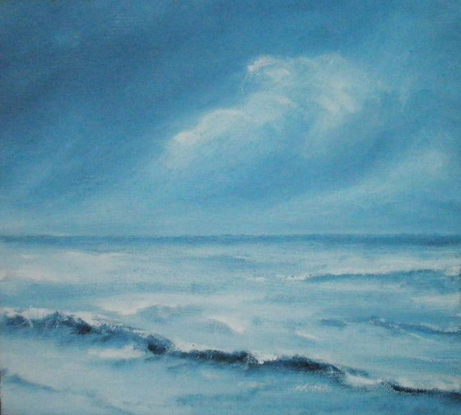 sea...oil painting