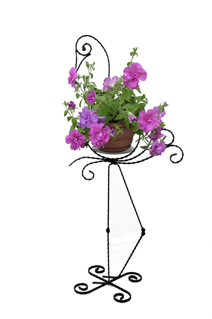 Ever imagined a crane made of flowers and metal? With this unique wrought iron support for flowers you can set your imagination free. It would make an outstanding decoration placed near a puddle or anywhere in your garden.