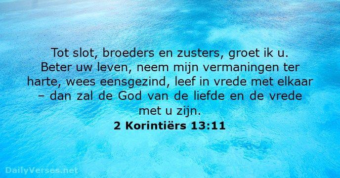 2 Korintiërs 13:11 - dailyverses.net
