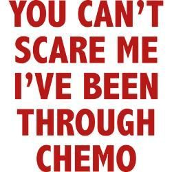 It true, you know. All the little worries I am carrying around all day, somehow protect me from a big old scare. Now people are stunned watching me bravely moving on. No time, no more for other peoples drama. Thanks Chemo... (I guess)...