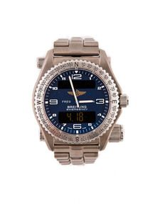 Breitling Emergency Watch, Breitling Emergency Professional Superquartz with original titanium bracelet, and 43mm case. Analog & digital display dial with quartz movement. Micro antenna for the aviation emergency frequency