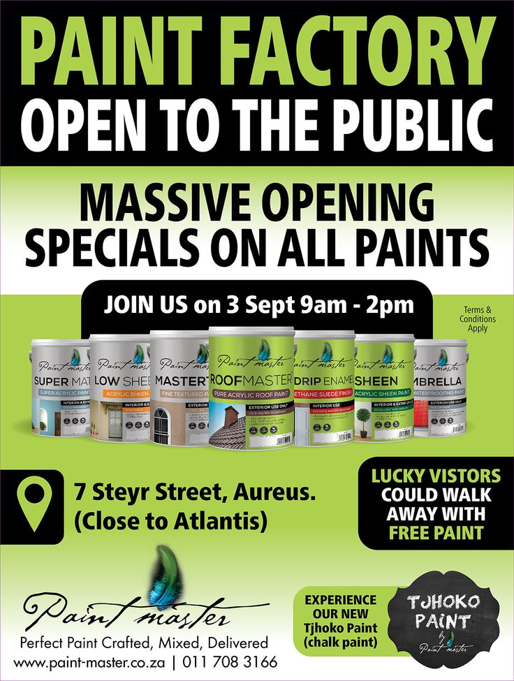 Grand Opening for the new factory in Randfontein. Great specials and all are welcome.