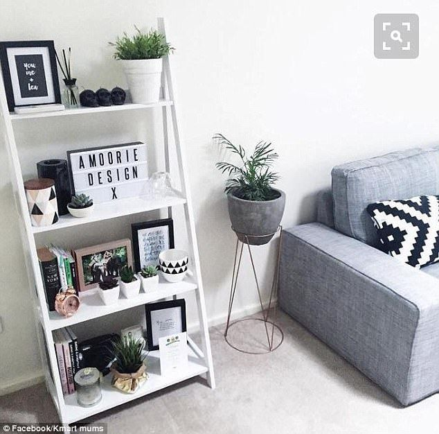 FEMAIL also takes a look at some of the top styling tips and tricks shared on the group (pictured: a Kmart living area)