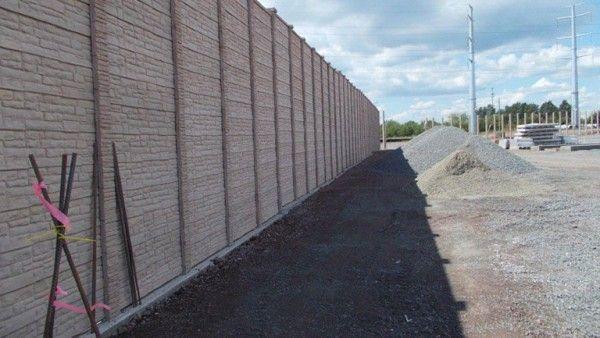 Precast Concrete Fence Panels Retaining Wall Concrete Fence