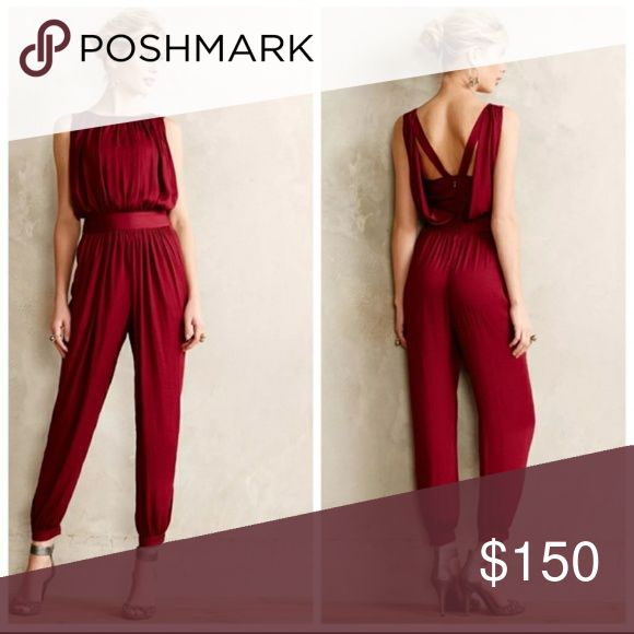 150f5964ee28 Morgan Carper x Anthropologie jumpsuit 10 Morgan Carper X Anthropologie  garnet jumpsuit. Worn once. Size 10, fits like a L. I am 5'7