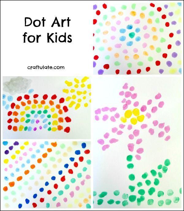 Dot Art For Kids Using Kwik Stix Paint Art For Kids Dot