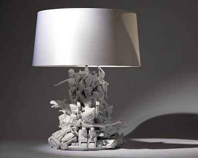 Ryan McElhinney - lamps made from old plastic toys