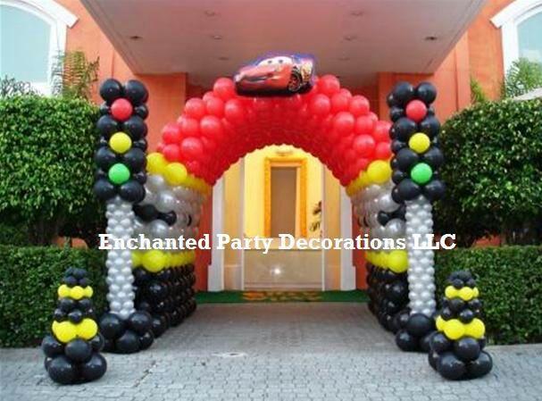 cars con globos ideas para decoracion fiestas bautizos
