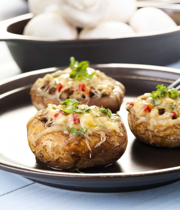 Baked Stuffed Mushrooms With Cheese Recipe