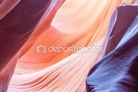Фиолетовый, розовый оранжевый абстрактный Нижний Каньон Антилопы страницы Аризона — стоковое изображение #98446200
