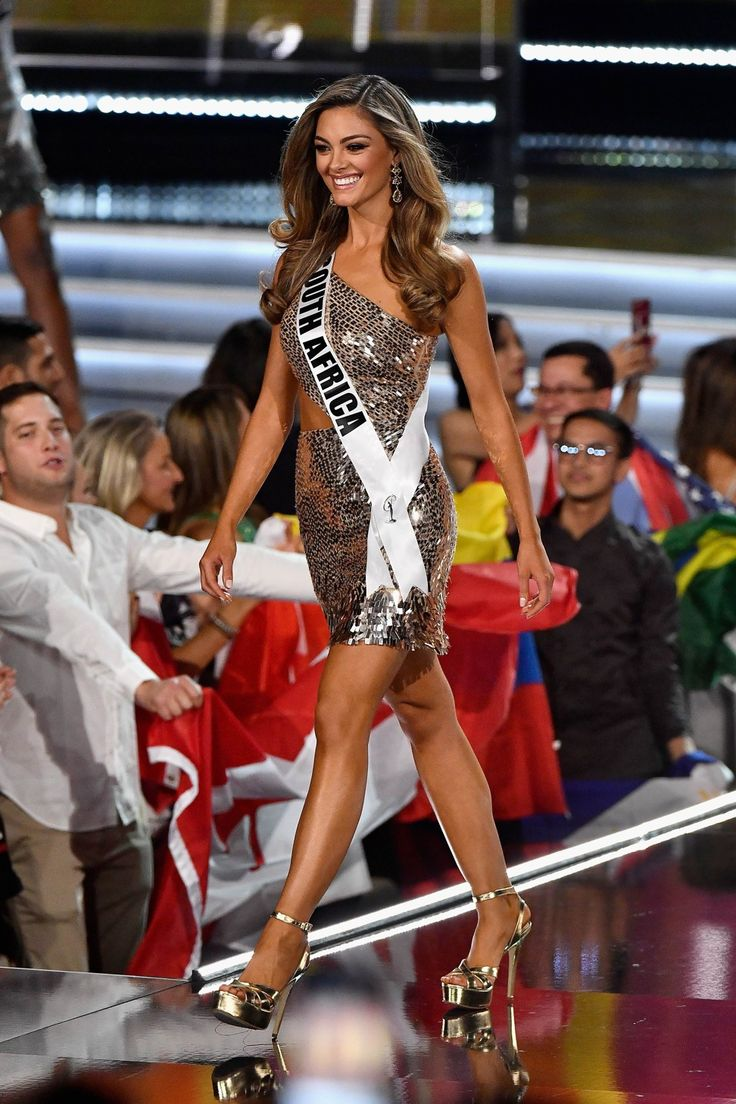 Miss South Africa 2017 Demi-Leigh Nel-Peters is named a top 16 finalist during the 2017 Miss Universe Pageant. Photo: AFP
