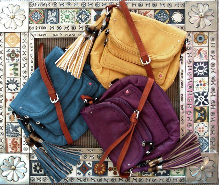 Holy Hanna Handbags - Spring 2014.  Multi compartment cross bodies