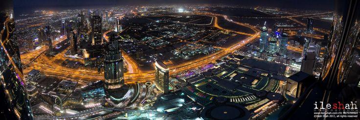 At the top - Dubai Panorama from at the top, Burj Khalifa