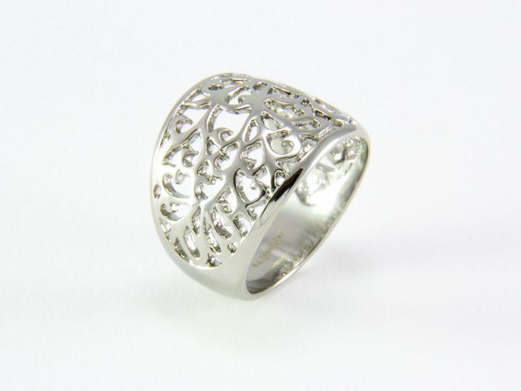 Inda motívumos nemesacél gyűrű