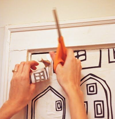 How to use fabric as wallpaper  http://howaboutorange.blogspot.com/2011/09/how-to-wallpaper-using-fabric.html