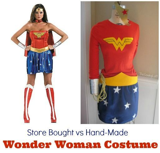 store bought vs handmade wonder woman costume diy tutorial this halloween costume is very - Stores With Halloween Costumes Near Me