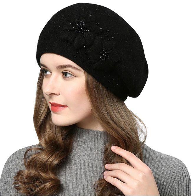 Streetwear Grunge Pastel Rhinestone Embroidered Flower Design Women S Knitted Cotton Beanie Hat In 2021 Hats For Women Winter Hats Winter Hats For Women