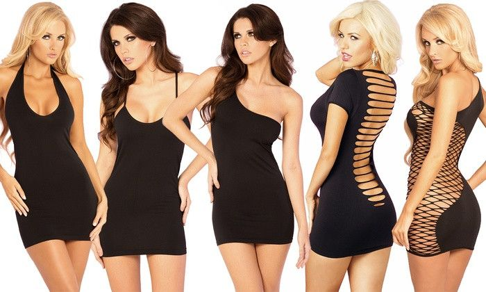 Pink Lipstick Lingerie Little Black Dress Collection. Multiple Styles Available.