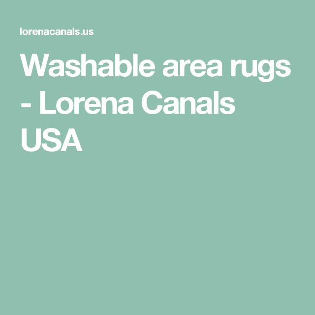Washable area rugs - Lorena Canals USA