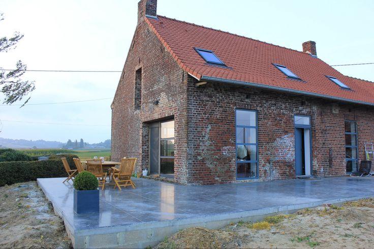Terrasse en beton lissé
