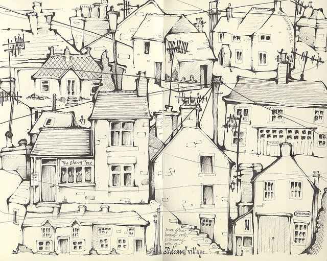 might take the car up to the hills by andrea joseph's illustrations, via Flickr