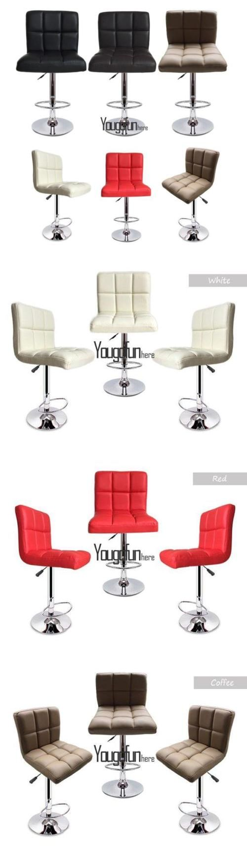 Bean Bags and Inflatables 48319: Fashion Set Of 2 Bar Stools Leather Adjustable Swivel Pub Chair Hydraulic Hyfg -> BUY IT NOW ONLY: $65.93 on eBay!